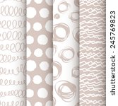 set of 4 neutral doodle...   Shutterstock .eps vector #245769823