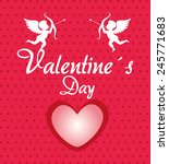 love design over pink... | Shutterstock .eps vector #245771683