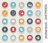 communication icons. | Shutterstock .eps vector #245790553