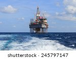 offshore jack up drilling rig...   Shutterstock . vector #245797147