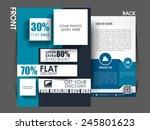 marketing flyer template eps10  ... | Shutterstock .eps vector #245801623