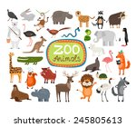 zoo animals. many different... | Shutterstock . vector #245805613