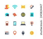 communication icons | Shutterstock . vector #245824447