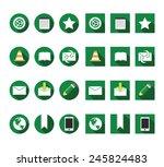 flat internet icons vector set
