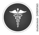 medical design on black button... | Shutterstock .eps vector #245839363