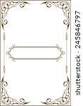 victorian art border is on white | Shutterstock .eps vector #245846797