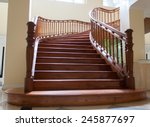 The Wood Stair Is Interior In...