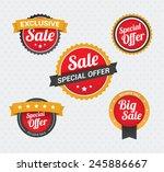 sale   special offer badges | Shutterstock .eps vector #245886667