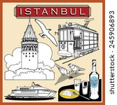 vector illustration istanbul... | Shutterstock .eps vector #245906893