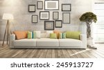 living room interior design 3d... | Shutterstock . vector #245913727
