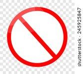 vector blank ban | Shutterstock .eps vector #245925847