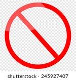 vector blank ban | Shutterstock .eps vector #245927407