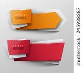 origami vector banners set  | Shutterstock .eps vector #245938387