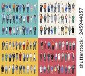 jobs people diversity work... | Shutterstock . vector #245944057