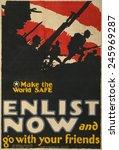 Wwi. U.s. Recruiting Poster...