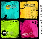 a set of four grunge banners.... | Shutterstock .eps vector #24596941
