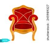 watercolor vector vintage... | Shutterstock .eps vector #245989327