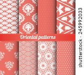 Set Of 8 Oriental Patterns...