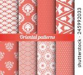 Set Of 8 Oriental Patterns...