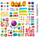 collection of 100  brightly... | Shutterstock .eps vector #24600274