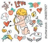 valentines day cartoon vector... | Shutterstock .eps vector #246007057