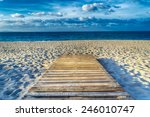 Wooden Boardwalk On The Sand I...