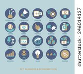 icon set business strategy and... | Shutterstock .eps vector #246014137