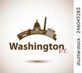 vector silhouette of washington ... | Shutterstock .eps vector #246045283