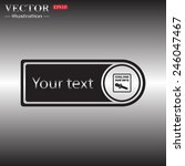 tag  price tag  label  with... | Shutterstock .eps vector #246047467