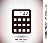 calculator icon  | Shutterstock .eps vector #246058243