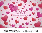 valentine's day background with ... | Shutterstock . vector #246062323