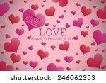 valentine's day background with ... | Shutterstock . vector #246062353