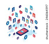 social network and technology... | Shutterstock .eps vector #246064597