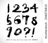 handwritten numbers   vector  ... | Shutterstock .eps vector #246076813