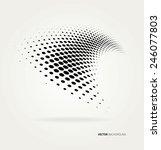vector halftone dots | Shutterstock .eps vector #246077803
