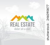 real estate  construction ... | Shutterstock .eps vector #246090877