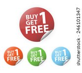 buy1 get1 free set sticker... | Shutterstock .eps vector #246101347