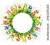 confetti and serpentine... | Shutterstock . vector #246105163