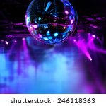 Colorful Disco Mirror Ball...