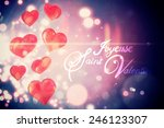 digitally generated valentines... | Shutterstock .eps vector #246123307