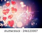 digitally generated valentines... | Shutterstock .eps vector #246123307