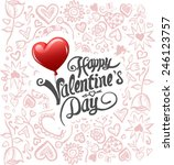 digitally generated valentines... | Shutterstock .eps vector #246123757