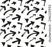 seamless scribbled arrow... | Shutterstock .eps vector #246125953