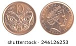 10 New Zealand Cents Coin...