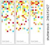 abstract template vertical... | Shutterstock .eps vector #246141427