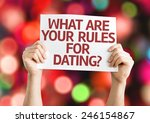 what are your rules for dating  ... | Shutterstock . vector #246154867