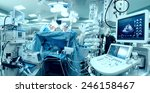 in advanced operating room with ... | Shutterstock . vector #246158467