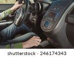 man behind the wheel | Shutterstock . vector #246174343