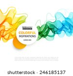 vector abstract smoky waves ... | Shutterstock .eps vector #246185137