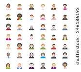 people diversity portrait... | Shutterstock .eps vector #246186193